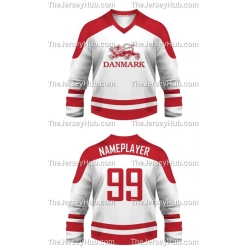 Team Denmark Hockey Jersey Light