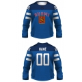 Team Finland 2014 Hockey Jersey Dark