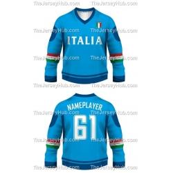 Team Italy Italia Hockey Jersey Dark