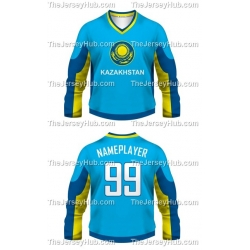 Team Kazakhstan Hockey Jersey Dark