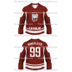 Team Latvia Hockey Jersey Dark