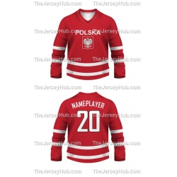 Team Poland Hockey Jersey Dark