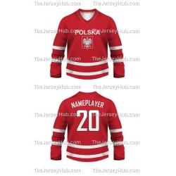 Team Poland Hockey Jersey Dark