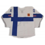 Team Finland 2014 Hockey Jersey Tuukka Rask Light