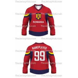 Team Romania Hockey Jersey Dark