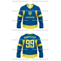 Team Ukraine Hockey Jersey Dark