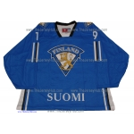 Team Finland Goalie Hockey Jersey Mikko Koskinen Dark
