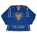 Team Finland Hockey Jersey Patrik Laine Dark