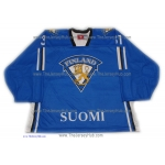 Team Finland Goalie Hockey Jersey Antti Niemi Dark