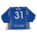 Team Finland Goalie Hockey Jersey Antti Niemi Dark