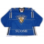 Team Finland Goalie Hockey Jersey Tuukka Rask Dark
