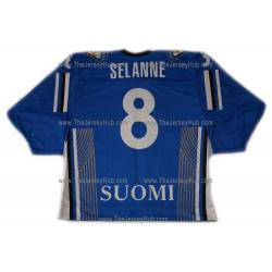 Team Finland Hockey Jersey Teemu Selanne Dark