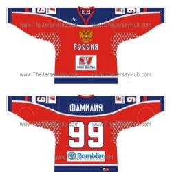 Team Russia 2005-06 Euro Tour Russian Hockey Jersey Dark