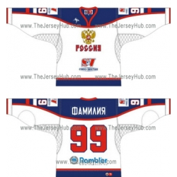 Team Russia 2005-06 Euro Tour Russian Hockey Jersey Light