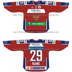 Team Russia 2011-12 Euro Tour Russian Hockey Jersey Dark