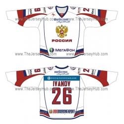 Team Russia 2012-13 Russian Hockey Jersey Light