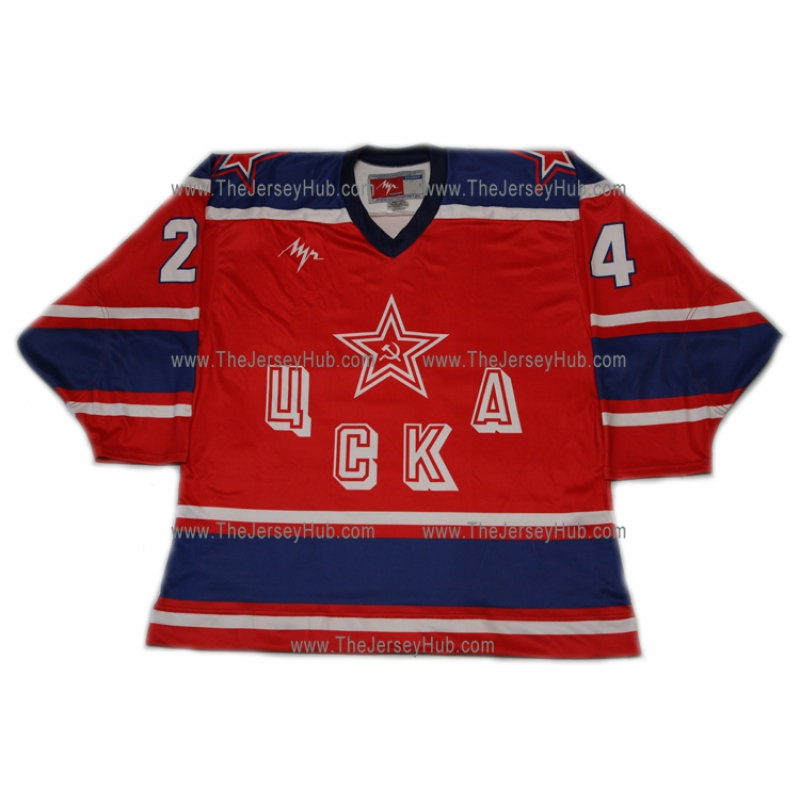 a3e5fe284a1 Red Army 1987 CSKA Soviet Russian Hockey Jersey Makarov Dark