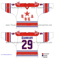 Red Army CSKA Moscow 1979...1997 Russian Hockey Jersey Light