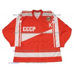 Team USSR 1986 Soviet Russian Hockey Jersey Fetisov Dark