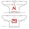 Hammer and Sickle USSR Soviet Russian Hockey Jersey Light