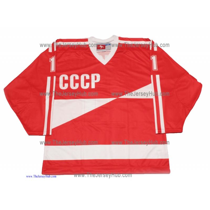 1987 Canada Cup Team USSR Soviet Russian Hockey Jersey Larionov Dark 740f4019d