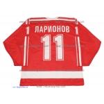 1987 Canada Cup Team USSR Soviet Russian Hockey Jersey Larionov Dark