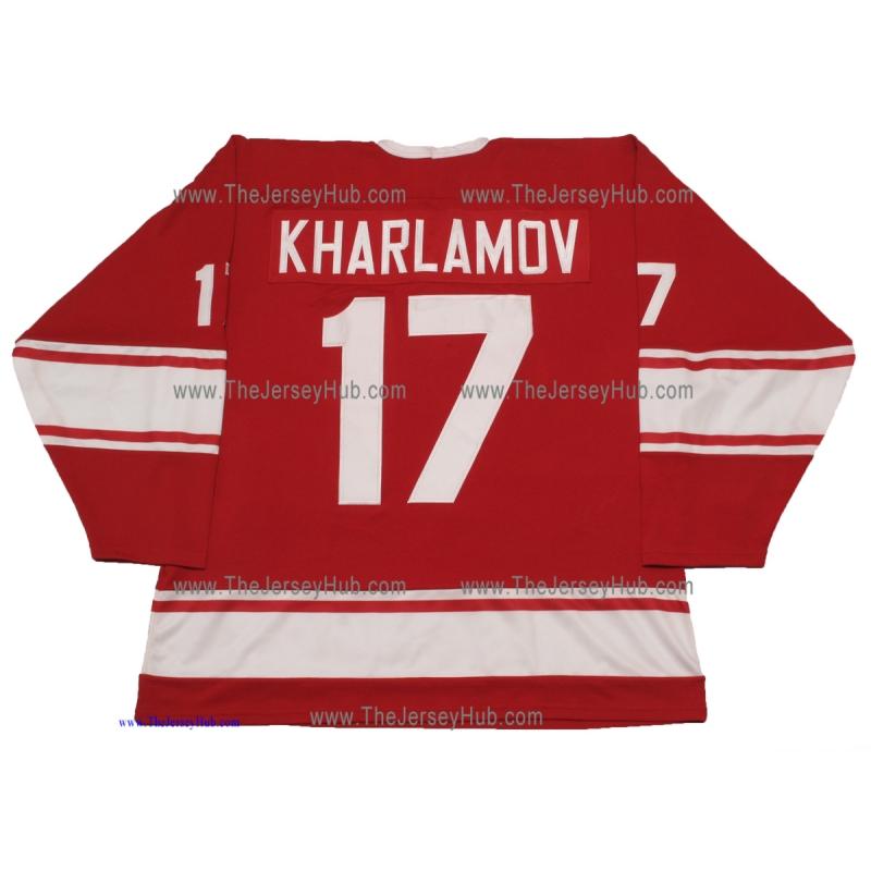 Team USSR 1972 Soviet Russian PRO Hockey Jersey Kharlamov Dark 0be06f66b