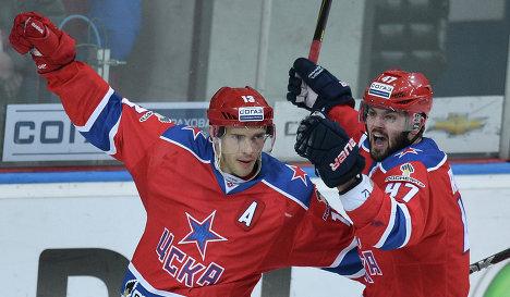 aaebe673414 CSKA Moscow 2012-13 Russian Hockey Jersey Pavel Datsyuk Dark